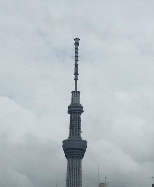 東京スカイツリー(天気が悪い日でいまいちですが・・・)