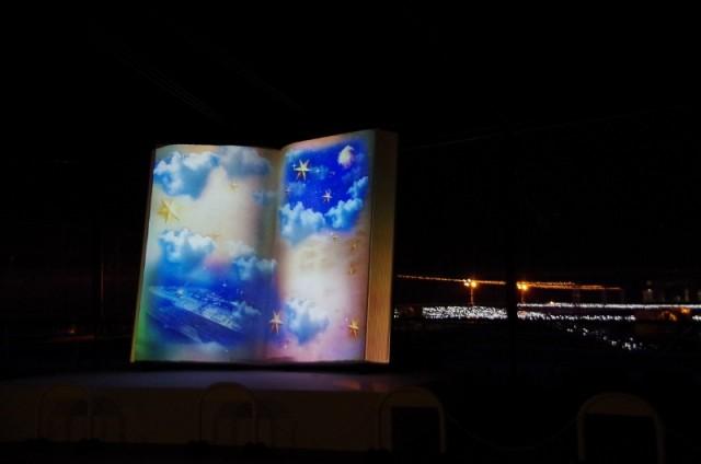セントレアのマッピングイルミネーション Centrair Sky Story by NAKED