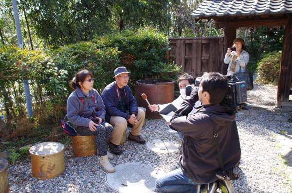 撮影の途中、なんとケーブルテレビに取材されちゃいました!!(≧◇≦)びっくりですね~